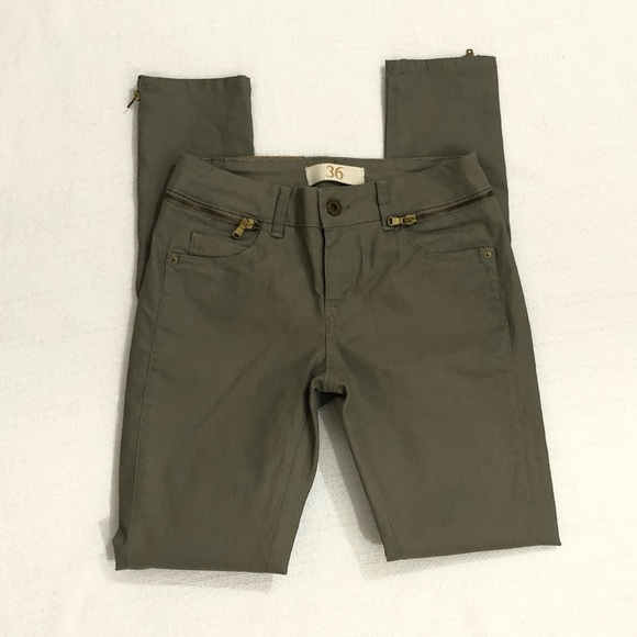 Zara Denim - Zara Basic Dept 36 olive Sz 4